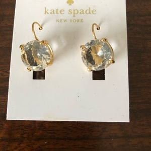 Kate Spade clear 14 k gold filled earrings